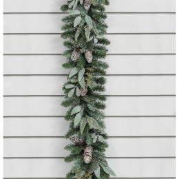 6ft cone mixed leaf garland