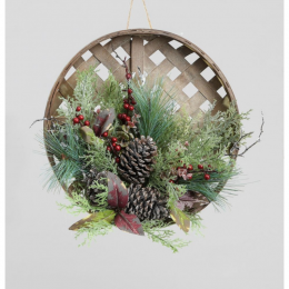 15 pine cone berry door hanger
