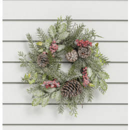 40cm large cone berry cluster wreath