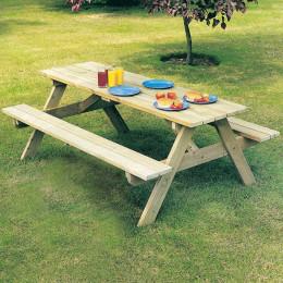 Alexander rose pine woburn garden picnic table 5ft