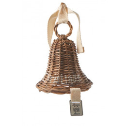 Rustic rattan christmas bell ornament s