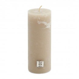 Rustic candle desert sand 7x18
