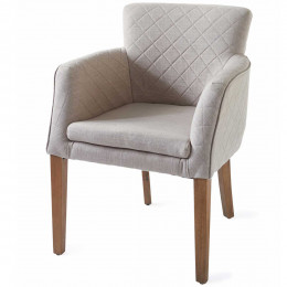 Waverly dining armchair linen flax