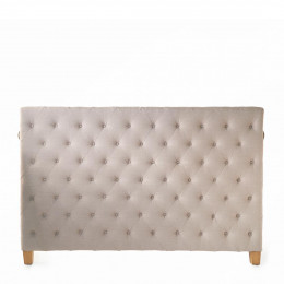 Union square headboard dbl lin flax