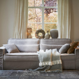 Metropolis sofa 3 5s cotton stone