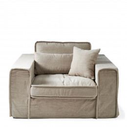 Metropolis love seat cotton natural