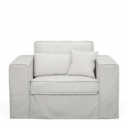 Metropolis love seat cotton ashgrey