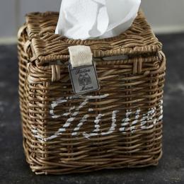 Rustic rattan tissue square box