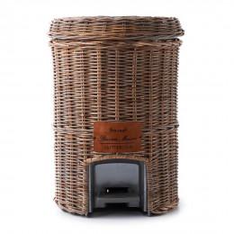 Rustic rattan classic bin