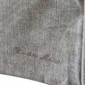 Metropolis corner arm left washed cotton grey