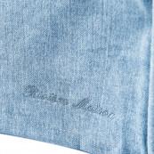 Metropolis corner arm left washed cotton ice blue
