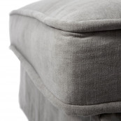 Metropolis chaise longue right washed cotton grey