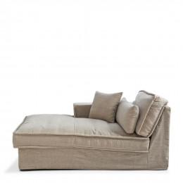 Metropolis chaise longue left washed cotton natural