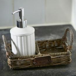 Rustic rattan soap tray