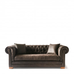Crescent av sofa 3s pel espresso