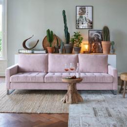 West houston 3 5 seater velvet sofa pearl