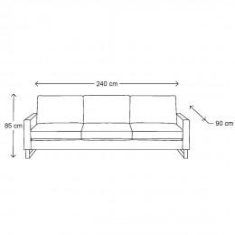West houston 3 5 seater velvet sofa shadow