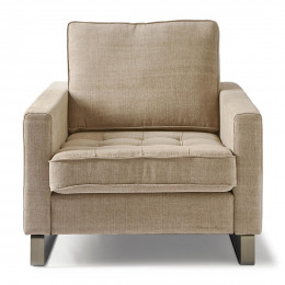 West houston armchair washed cotton natural