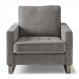 West houston armchair cotton grey