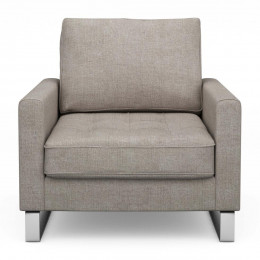 West houston armchair washed cotton stone