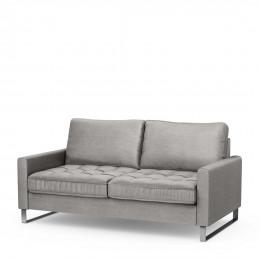 West houston 2 5 seater velvet sofa platinum