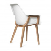 Amsterdam city dining armchair brown legs white body