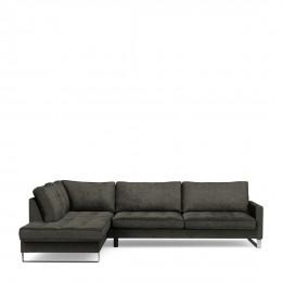 West houston corner sofa chaise longue left velvet shadow