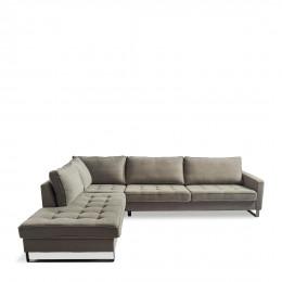 West houston corner sofa chaise longue left cotton stone