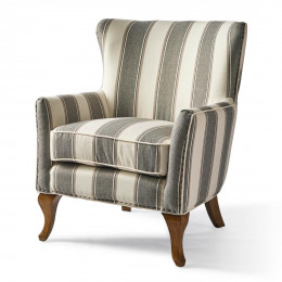 Cavendish armchair grey stripe