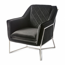Walker park armchair velv black