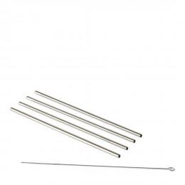 Happy straws metal 4 pcs