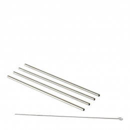 Happy straws metal 4 pcs
