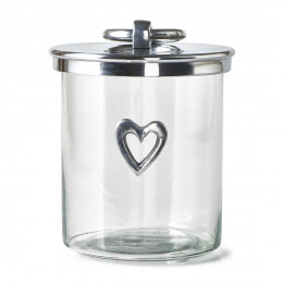 Heart metal storage jar