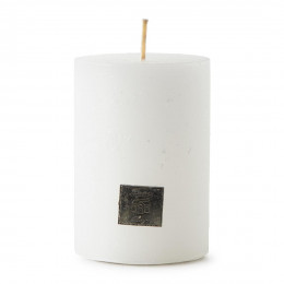 Rustic candle frosted white 7x10
