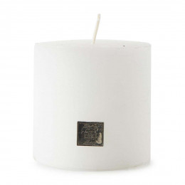 Rustic candle frosted white 10x10