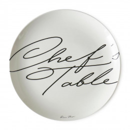 Chef s table dinner plate