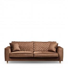Kendall sofa 3 5 seater velvet chocolate