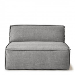 The jagger center 125cm washed cotton grey