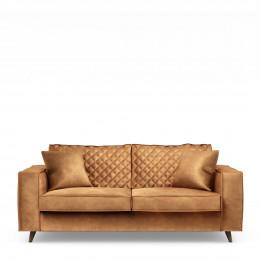 Kendall sofa 2 5s velv cognac