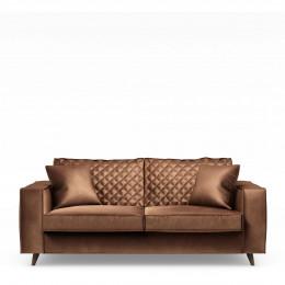 Kendall sofa 2 5 seater velvet chocolate