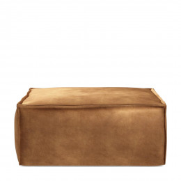 The jagger footstool velvet cognac