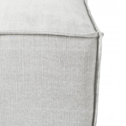 The jagger footstool washed cotton ash grey