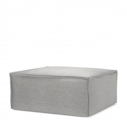 The jagger velvet footstool platinum