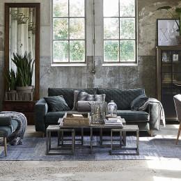 Kendall 2 5 seater velvet sofa pearl