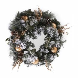 Merry christmas wreath gold 65 cm