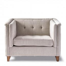 Radziwill love seat linen fabflax
