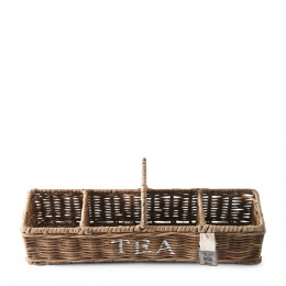 Rustic rattan tea carrier s