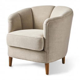 Rue royale armchair linen fabflax