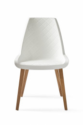 Amsterdam city dining chair brown legs white body