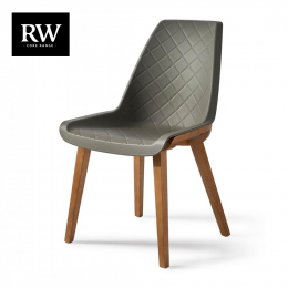 Amsterdam city dining chair brown legs grey body